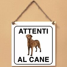 Chesapeake Bay Retriever 4 Attenti al cane Targa cane cartello