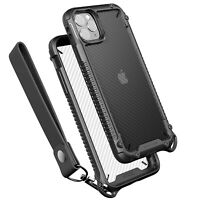 For Apple iPhone 11 Pro VRS® [Crystal Mixx Pro] Carbon Pattern Clear Bumper Case