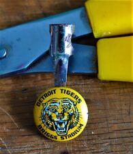 VTG 1950s Detroit Tigers Briggs Stadium Pencil Clip Orange