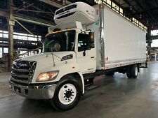 2013 Hino 338 7.6L Turbo Diesel 26ft Reefer Box Truck Pull Out Ramp