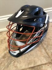 Cascade S Lacrosse Helmet Navy Blue Orange