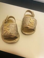 Baby Girl's Michael Kors 'Baby Gear' Sandals - Gold- Size 1