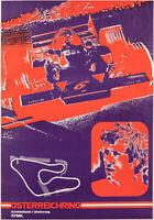 Affiche Originale - Österreichring - F1 - Circuit - Automobile - Vers 1987