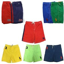 Polo Ralph Lauren Mens Big and Tall Logo Swimsuit Shorts Lined Swim Trunks Pony