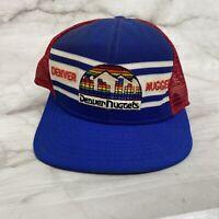 Vintage Denver Nuggets Mesh Hat Trucker Cap 80s Logo Snapback Twins NBA