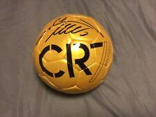 Cristiano Ronaldo CR7 Manchester United Autographed Ballon d'Or Gold Football