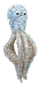 December Diamonds Beaded Nautical Blue Octopus Christmas Ornament