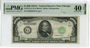 1934-A $1000 One Thousand Dollars Federal Reserve Note Chicago PMG 40 EPQ JM190