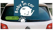 BABY IN CAR / ON BOARD Vinyl Car Van Decal Sticker Logo - 20 X 15 cm