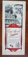 1943 Miller High Life Beer Bottle Art Vintage Print Ad Bar Decor Retro Large!