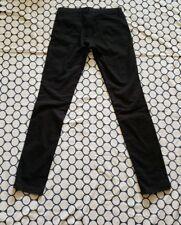 Uniqlo Slim Straight Low Rise Womens Black Denim Jeans Pant Size 25 x 33