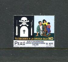 Peru 1299, MNH,  Anti-Drug Campaign 2001.X29506
