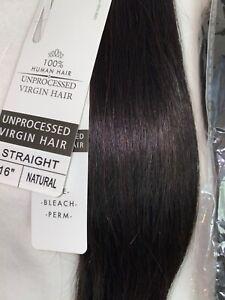 "BRAZILIAN UNPROCESSED 100% STRAIGHT VIRGIN HUMAN HAIR 3 BUNDLES ""16 INCH"" ~NEW"