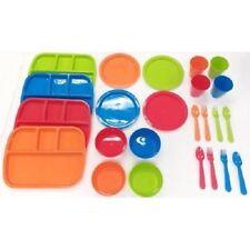 Brand New Boy's 24-Piece Dinnerware Set Pastel Colors Mainstays Kids BPA Free