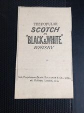 Q1-j Ephemera 1900s Small Advert Black And White Scotch Whisky