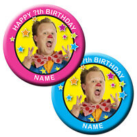 PERSONALISED MR TUMBLE JUSTIN BIRTHDAY BADGE/ MAGNETS/MIRROR 58MM or 77MM