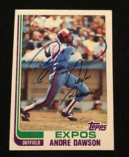 ANDRE DAWSON 1982 TOPPS AUTOGRAPHED SIGNED AUTO BASEBALL CARD 540 EXPOS HOF