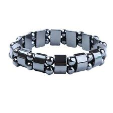 Punk Black Hematite Bracelet Men Women Healthy Bracelets Hand Chain Jewelry NIGH