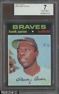 1971 Topps #400 Hank Aaron Atlanta Braves HOF BVG 7 NM