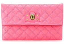 Marc Jacobs Large Quilted Eugenie Pink Leather Clutch BAG NWT