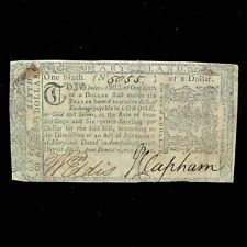 Colonial Currency ✪ Maryland April 10Th 1774 ✪ Md $1/6 Dollar Sixth Vf ◢Trusted◣