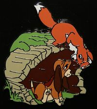 Disney 2015 Fox and the Hound Todd and Copper Playing Pin NEW ON ORIGINAL CARD