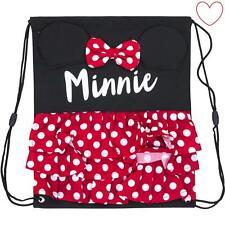 Official Disney Girls Novelty 3D Minnie Mouse Gym Bag Drawstring Swim Backpack