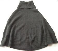 Ted Baker wool cashmere angora mix knit charcoal grey poncho cape M 12 14 40,VGC
