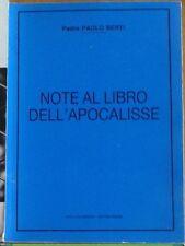 NOTE AL LIBRO DELL'APOCALISSE Berti 1987 Riviera Reali Amaducci