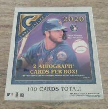 🔥 2020 Topps Gallery Baseball Hobby Box 2 AUTOS PER BOX NEW FREE FAST SHIPPING