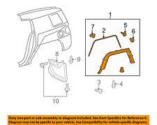 TOYOTA OEM FJ Cruiser Ext-Wheel Well Fender Flare Arch Molding Left 7560635103