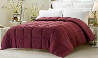 Wine Solid 5 PC Bed (Comforter&Sheet Set)US Sizes 1000 TC Egyptian Cotton