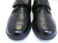 New Dr. Comfort Men's  Black Leather Orthopedic Shoes SZ 10W No Insoles (DR040)