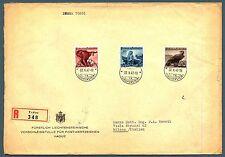 LIECHTENSTEIN - 1947 - Fauna (II°) serie completa su lettera - (MR)