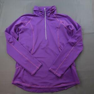 NVO Womens 1/4 Zip Golf Pullover Size Medium Purple Athletic Long Sleeve