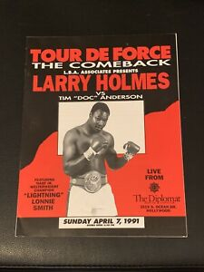 Mint 1991 Original Onsite Larry Holmes vs. Tim Anderson Vintage Boxing Program