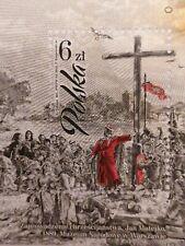 Polish stamp, Polska, mint, sheet, christianity of the country, Matejko painter