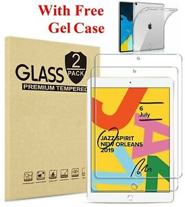 """Tempered Glass Screen Protector With Free Gel Case for iPad Air Air 2 9.7"""" 2018"""
