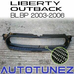 Carbon Fiber Front Grill For Subaru Liberty Outback STI BL BP 2003-2006 Black AT