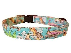SPIFFY POOCHES Dog Puppy Collar Leash Surfing Dogs Tropical ~B.O.G.O @ 50% OFF~
