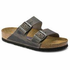 Birkenstock Arizona SF Oiled Leather Iron Men's Sandal  - NEW -  Choose Size