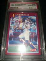 1991 Score Traded Ivan Rodriguez 82T Rookie PSA 10 GEM MINT 🔥📈 Texas Rangers ⚾