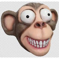 Chimp COMMEDIA con grandi occhi in lattice testa Piena Maschera Halloween