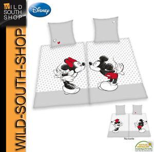 Disney MICKEY & MINNIE MOUSE Partner Bettwäsche 2x 80x80 + 135x200 Baumwolle RV