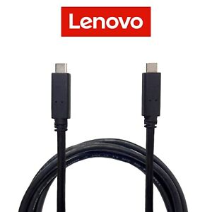 Lenovo 1.8m USB Type C 3.1 Male Cable Cord Data Transfer Power Charger Video Out