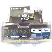 GREENLIGHT 32090 B 1972 FORD F-100 & HORSE TRAILER 1/64 CHASE GREEN MACHINE
