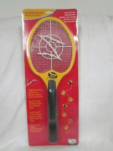 Handheld Bug Zapper Tennis Racket Electronic Fly Swatter Black and Yellow NEW