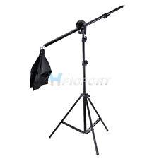 New Studio Photography Video boom arm, head, Sandbag and 2m Stand Kit