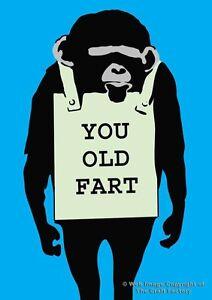 Birthday Card You Old Fart - MonkeySign Designer  MS011