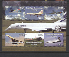 Congo 2004 CONCORDE/Rotary/Aviation/Planes/Aircraft/Transport 6v sht (n11922)